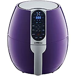 GoWISE USA GW22651 3.7-Quarts Programmable Air Fryer with 8 Cook Presets (Plum)