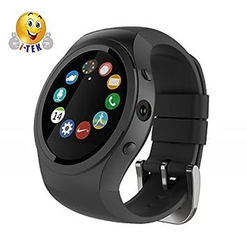 I-Tek ® D20S negra reloj inteligente SmartWatch pantalla IPS GSM ...