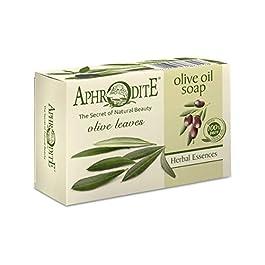 Aphrodite Skin Care Oilve Oil Soap with Olive leaves 100 gram 3.53 oz natural bar