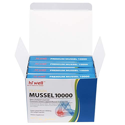 Hi Well Premium Green Lipped Mussel 10000mg 200 Capsules New Zealand Green Lipped Mussel Extract Oil Joint Health Support & Mobility by Hi Well (Image #3)
