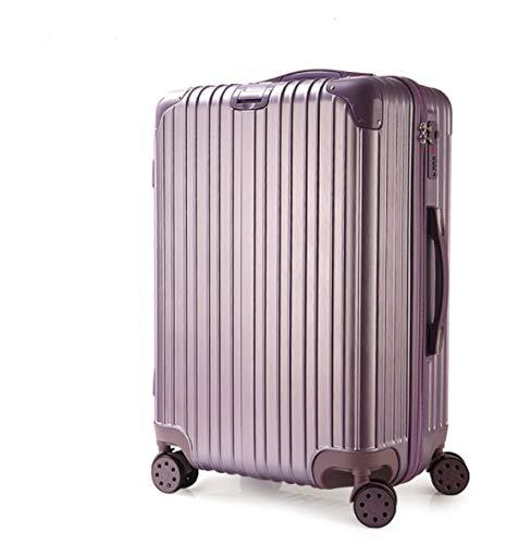 学生トロリーケースジッパーpcスーツケース女性ユニバーサルホイールパスワードボックススーツケース B07PKB8FMF パープル XL
