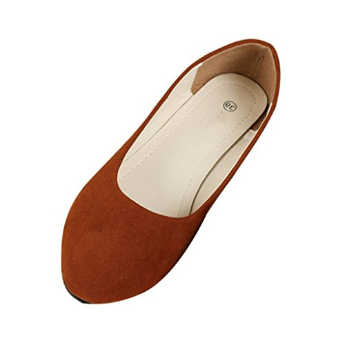 Ladies All School Yellow Pumps Casual Women Suede Flat Match Comfortable Shoes Dolly Girls Work Minetom Head Point vEaxSOwxq
