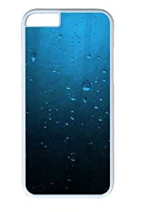 Blue Minimalistic Drops PC Case Cover for iPhone 6 4.7inch White