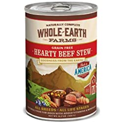 Whole Earth Farms Grain Free Hearty Beef Stew Canned Dog Food 12*12.7oz