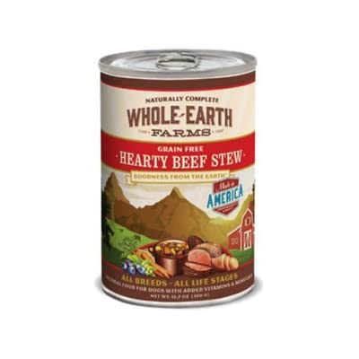 Whole Earth Farms Grain Free Hearty Beef Stew Canned Dog Food 1212.7oz
