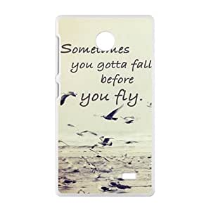 Malcolm sometimes you gotta fall before you fly Phone Case for Nokia Lumia X