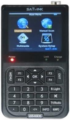 Satlink WS6905 - Dispositivo digital buscador de señales terrestres DVB-T FTA (46 MHz - 870 MHz), negro (importado)