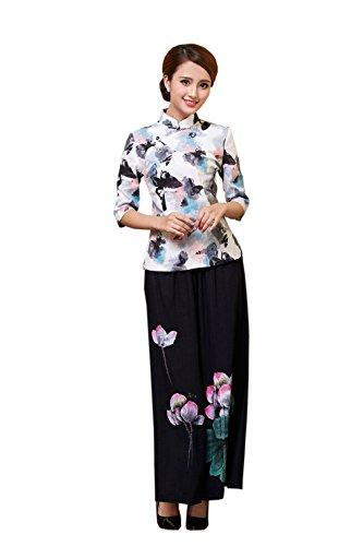 chino la estilo acvip la camisa Tang chaqueta impreso colores de de m la del retro la para chaqueta mujer de de Estilo UqwaSZ