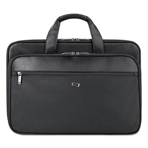 Smart Strap Portfolio, 17 3/4 x 6 1/2 x 12 1/2, Black by U.S. LUGGAGE (Catalog Category: Calendars, Planners & Briefcases / Cases)