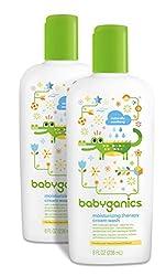 Babyganics Moisturizing Therapy Baby Cream Wash, 8oz Bottle (Pack of 2)