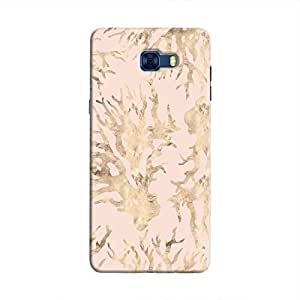 Cover It Up - Pink Pastel Nature Print Galaxy C7 Pro Hard Case