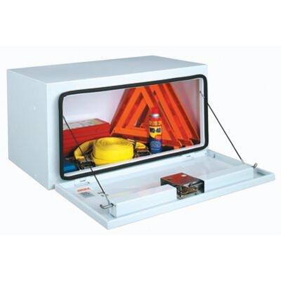 JOBOX 18'' Tall Steel Underbed Box, White - 48'' x 18'' x 18'' by JOBOX