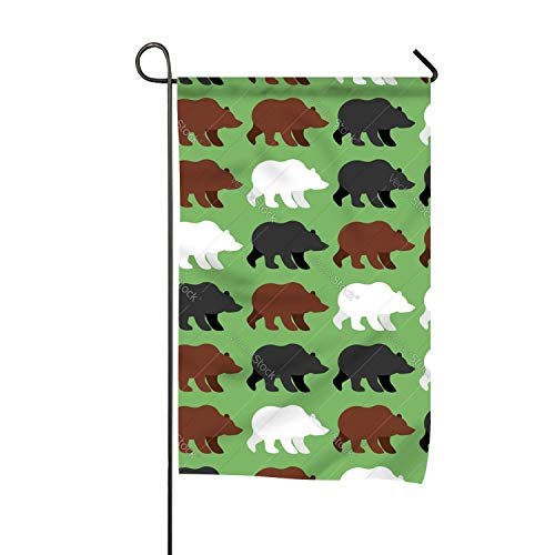 (zhurunshangmaoGYS Bears Pattern Background of Wild Grizzly Garden Flag Home Decorative Outdoor Double Sided)