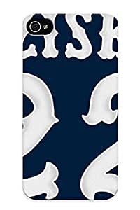 Fireingrass Hot Tpye Chicago White Sox Baseball Case Cover For Iphone 4/4s For Christmas Day's Gifts