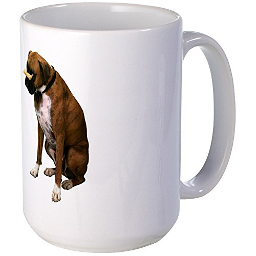 White Boxer Pictures - CafePress - Brindle Boxer Photo Large Mug - Coffee Mug, Large 15 oz. White Coffee Cup