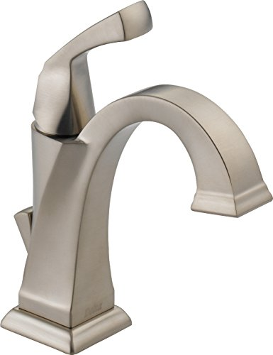 Delta Faucet Dryden Single-Handle Bathroom Faucet with Diamond Seal Technology and Metal Drain Assembly, SpotShield Stainless 551-SP-DST ()