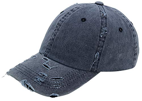 AZTRONA Baseball Cap Men Women Hat - Unisex 100% Cotton Plain Pigment Dyed,Navy