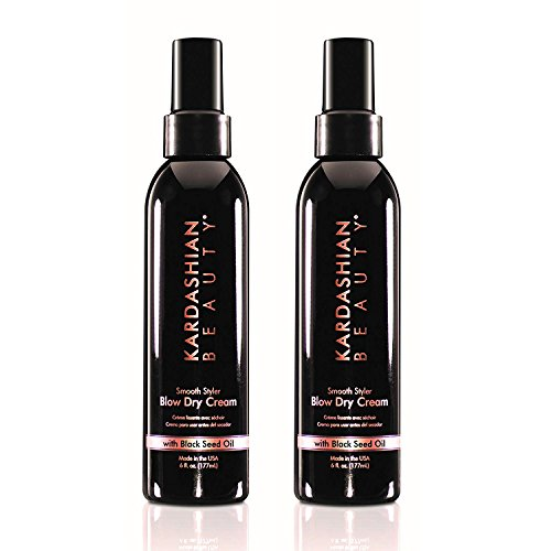 Kardashian Beauty Smooth Styler Blow Dry Cream 6 Oz - 2 Pack
