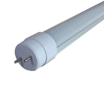 LuLofe 6000K Daylight DC12V 18 Inch T8 LED Tube 7W With Rotatable End Cap, Frosted Lens,15W Equivalent