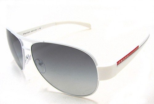 123ab493152ea PRADA SPS 51L Sunglasses SPS51L White 7BA-3M1 Shades  Amazon.co.uk  Clothing