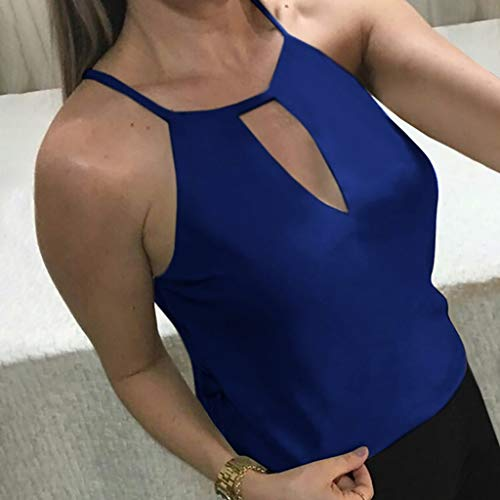2019 Shirts Clearance ! Women Solid V-Ncek Hole Sleeveless Vest Tank Pullover Blouse Shirt -