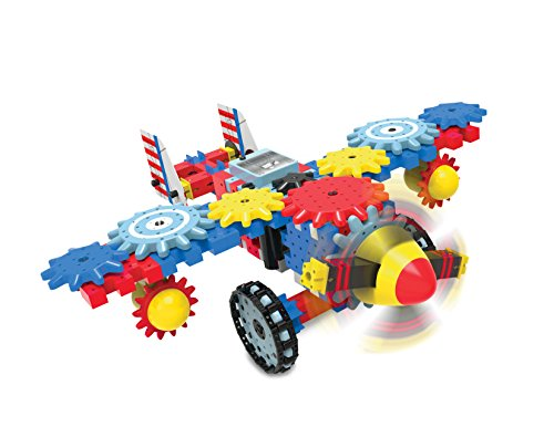 picture of The Learning Journey Aero Trax Plane Techno Gears Playset (100+ Piece)