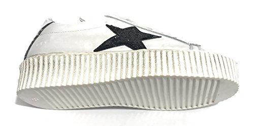 Vintage Bianco TONY Stella Pelle Nero Donna WILD Creepers Sneaker DS18TW29 Scarpe Fondo qABwSU