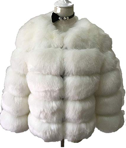 List Taylor Swift Song (YoungG-3D New Desigh Pink Faux Fur Coat Elegant Thick Warm Outerwear Fake Fur Jacket,Small,White)