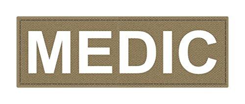 Medicパッチ – 6 x 2 – ホワイトレタリング – Tan Backing – フックファブリック   B01HK22Y7W