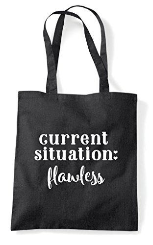Flawless Situation Shopper Statement Bag Current Tote Black 5qx6Rqdw