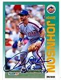 Autograph Warehouse 53528 Howard Johnson Autographed Baseball Card New York Mets 1992 Fleer No .509