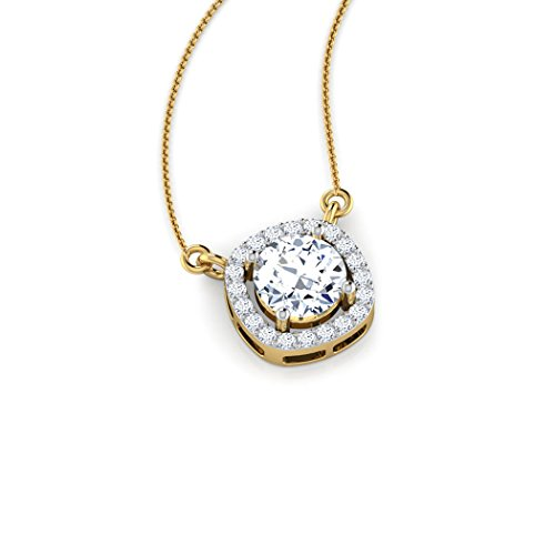 14 K Or jaune 1.01 carat au total Round-cut-diamond (IJ | SI) Pendentif