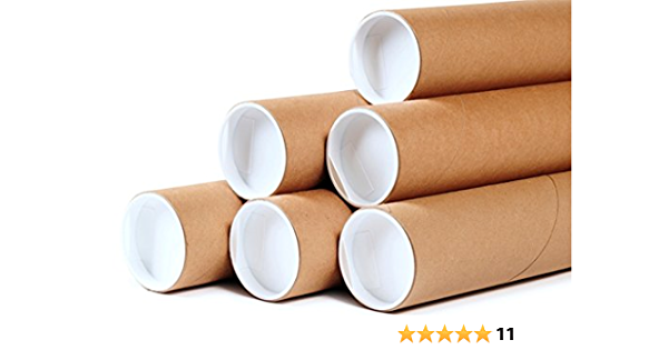 1 Tube RetailSource M3348x1 3 x 48 White Square Mailing Tubes