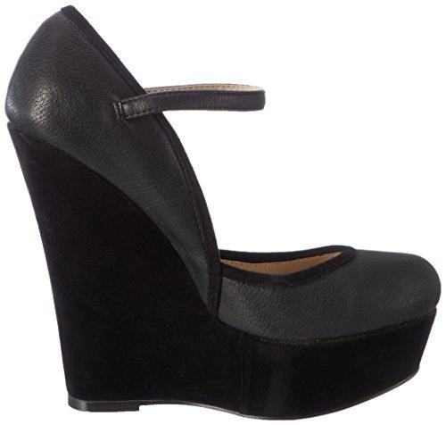Furiezza, Damen Keilabsatz Schuhe, Schwarz EU 36