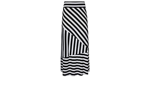 Casual Plus Size Gypsy Long Jersey Elastic Stripe Long Skirt Clearance Dacawin-Dress High Waist Maxi Skirts for Women