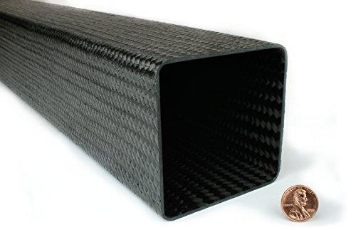 Braided Carbon Fiber Square Tubing - 3'' ID x 3'' ID x 48'' by DragonPlate