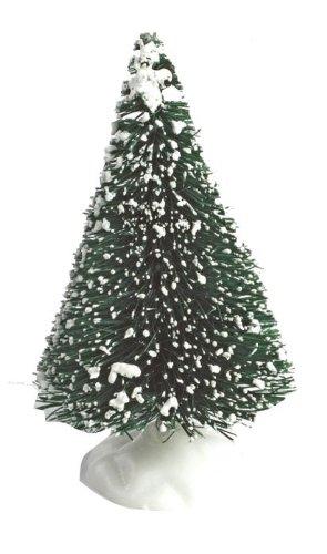 Set of 3 Snowy Bristle Xmas Trees for Christmas Cake Decotation Culpitt
