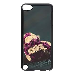 iPod 5 Black Cell Phone Case Heart Pattern KVCZLW1998 Plastic 3D Phone Case Cover