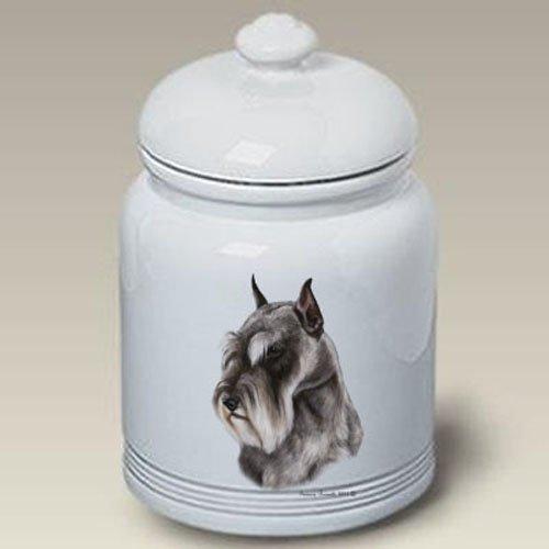 Schnauzer Grey Cropped - Tamara Burnett Treat Jars ()