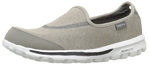 Skechers Performance Women's Go Walk Slip-On Walking Shoes, Grey, 6 XW US