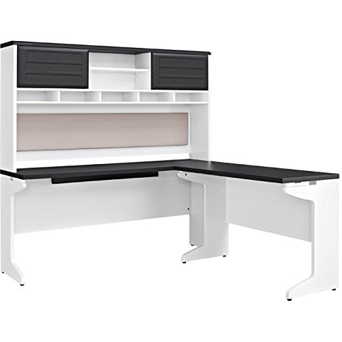 Altra Furniture Pursuit L Shaped Desk with Hutch Bundle  Whi (Large Image)