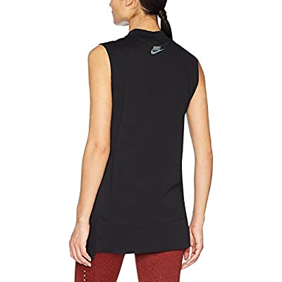 Nike Women's Hologram Just Do It Sleeveless Tunic-Black: Clothing