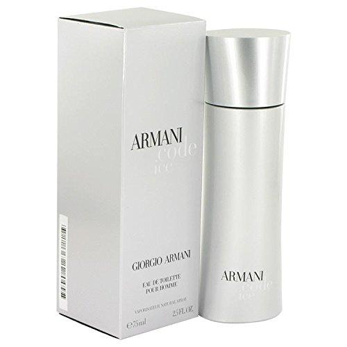 Armani Code Ice by Giorgio Armani Eau De Toilette Spray 2.5 oz for Men - 100% Authentic Armani Air