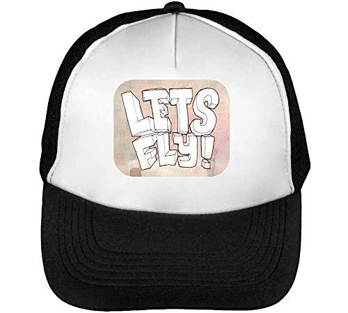 Let'S Snapback Beisbol Blanco Illustration Gorras Negro Fly Hombre ryKCqrI