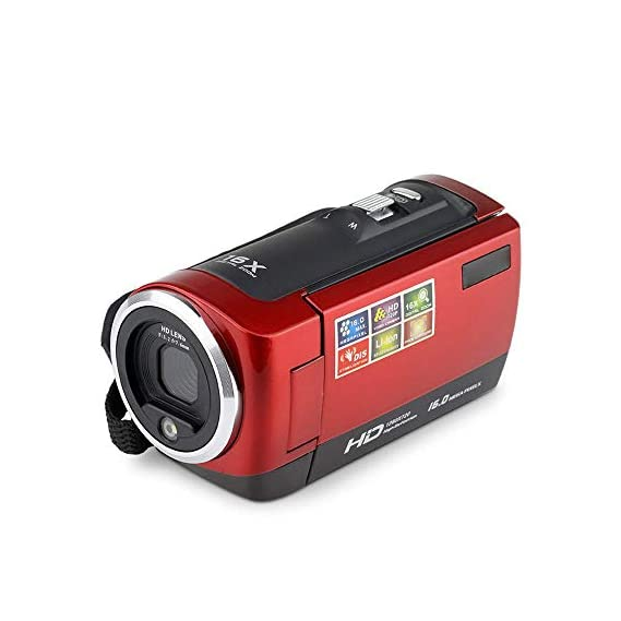Honeytecs Video Camera Camcorder Vlogging Camera FHD 1080P 16MP 16x Digital Zoom 2.7 Inch 270 Degree Rotatable LCD with
