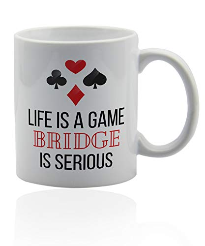 Gifts For Bridge Players 11 oz. white ceramic - Players Women