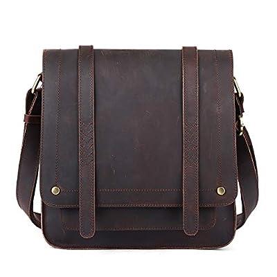 S-ZONE Vintage Genuine Leather Messenger Shoulder Purse Flapover Crossbody Bag for Women