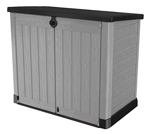 Keter 245009 Store-It-Out Ace Resin Outdoor Storage Shed 39 Cubic Foot, Grey (Patio Store Keter)