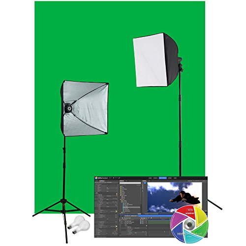 Photoflood Lighting Kit (Westcott 402N uLite Green Screen Video Lighting Kit)