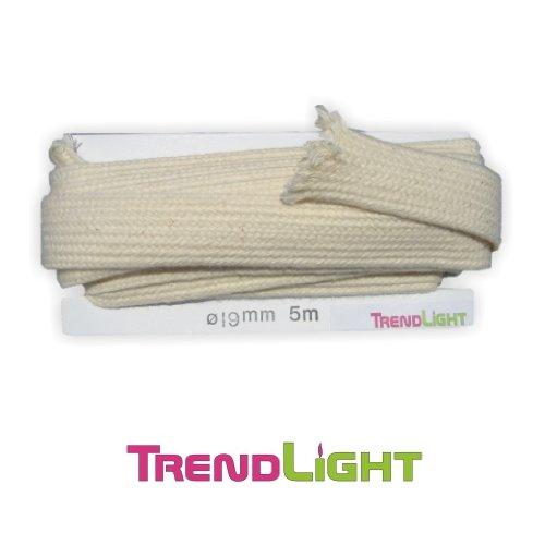 TrendLight 860483 Litzendocht für Öllampen - Lampendochte 19 mm / 5 m
